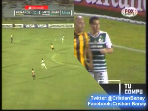 Peñarol 0 Santos Laguna 2 (Relato Julio Rios)  Copa Libertadores 2014 Los goles