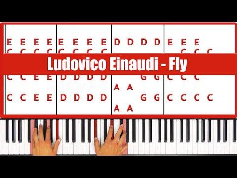 Fly Ludovico Einaudi Piano Tutorial - ORIGINAL