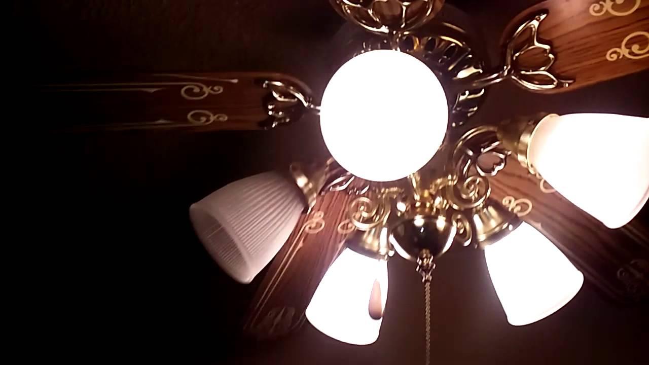 Litex Signet Deluxe Ceiling Fan (With Chandelier Light Kit) - YouTube