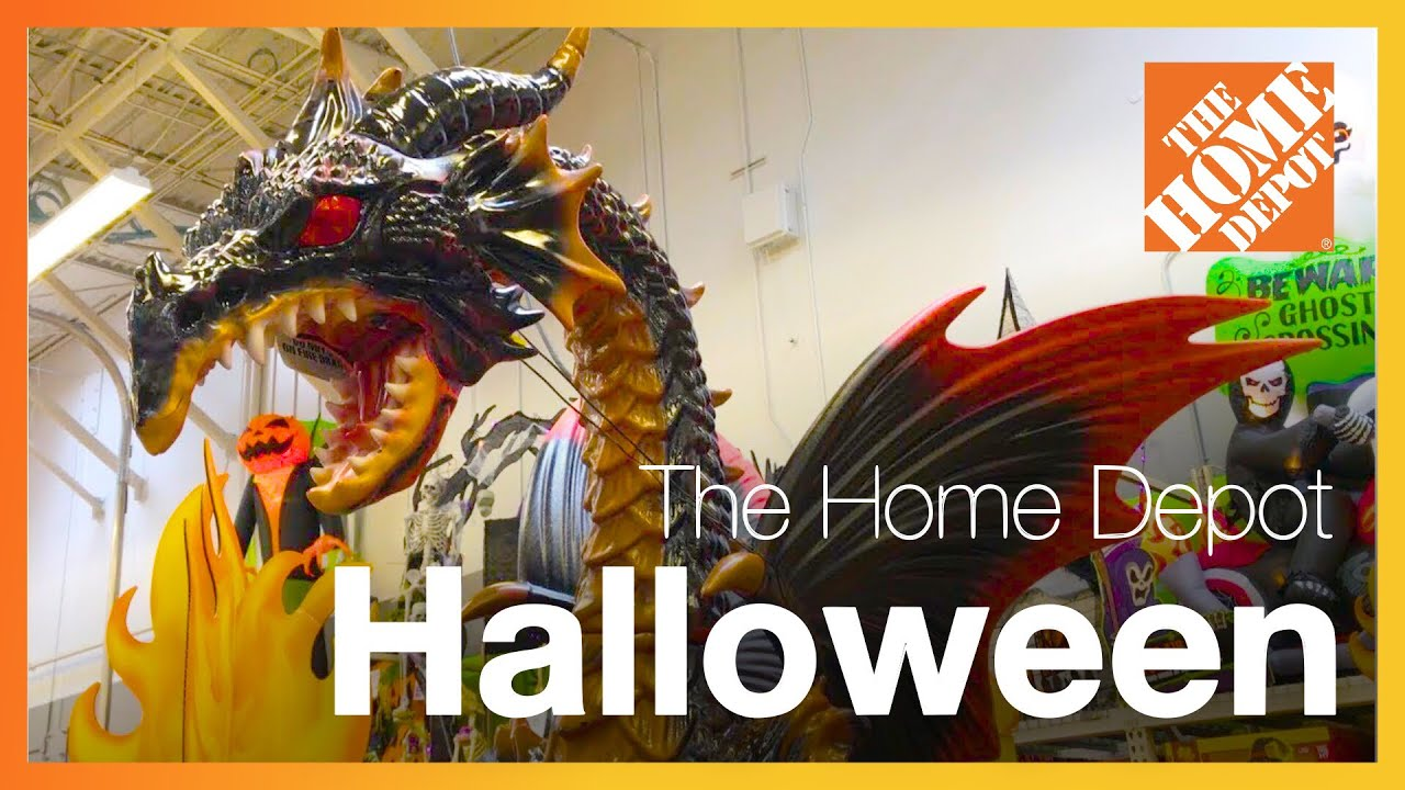 Home Depot Halloween Decorations & Animatronics - Store Walkthrough ...