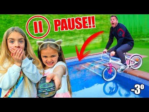 PAUSE CHALLENGE por 24 horas con Las Ratitas e Itarte vlogs