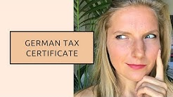 German Tax Certificate for Amazon