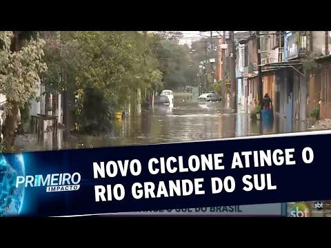 Passagem do novo ciclone no Rio Grande do Sul deixa uma pessoa morta   Primeiro Impacto (08/07/20)