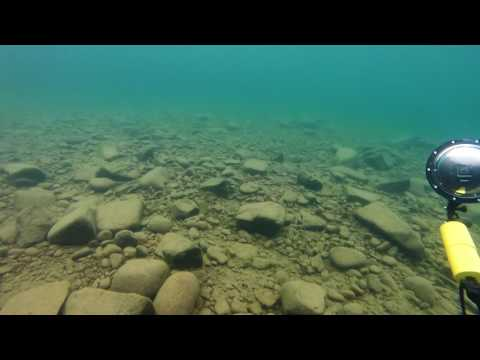 Diving in the Harbor of Grand Marais, MN