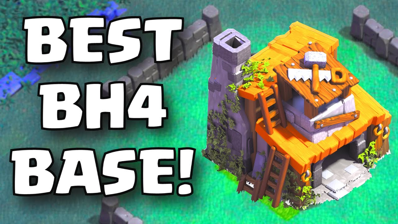 Undefeated builder hall 4 base layout clash of clans Best builder house 4 base