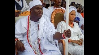 People Scream As Ooni Of Ife & His Wife Storms D Stage To Join Others Top Oba,Reveals Hiding Things