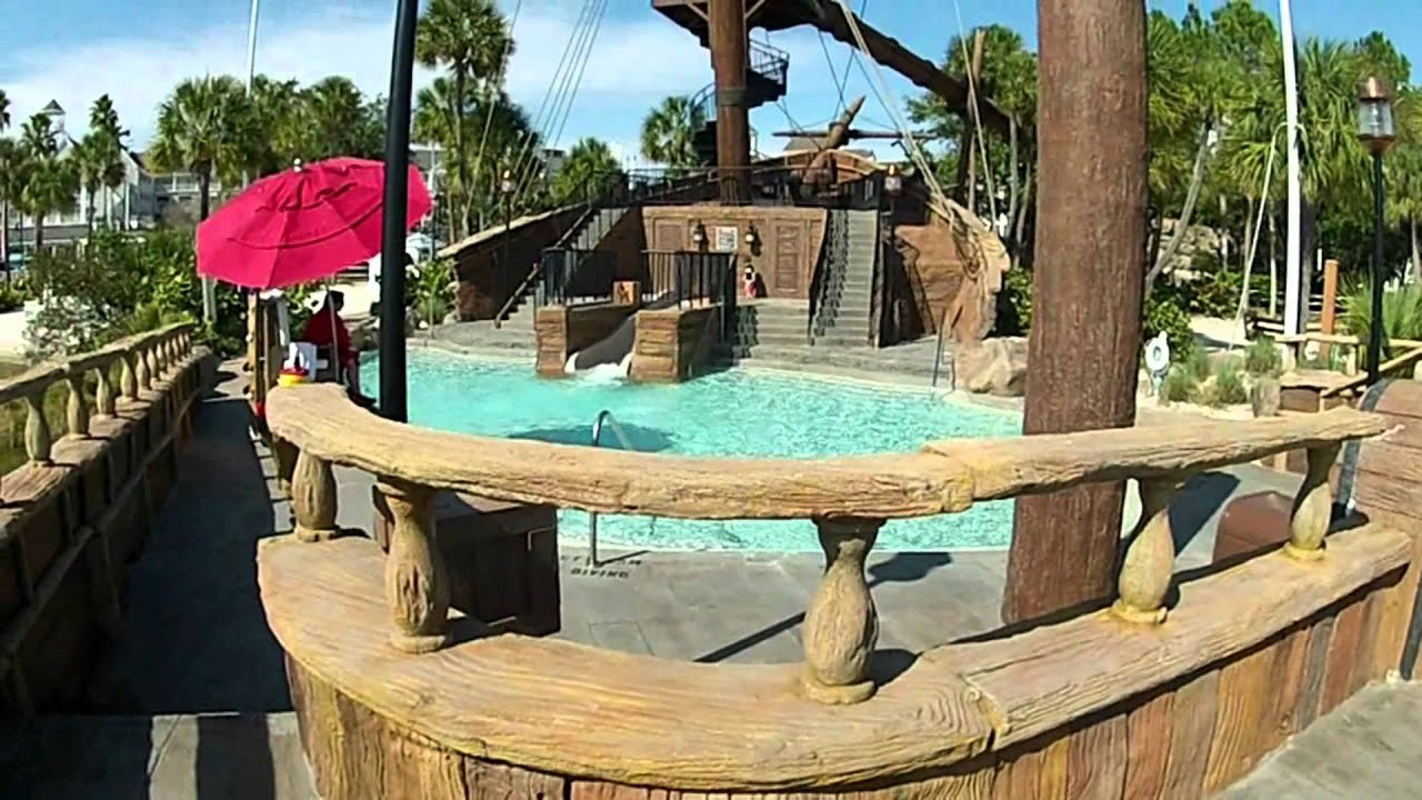 Disney S Yacht Beach Club Resort Slide At Stormalong Bay Flying Jib Walt World Pov You