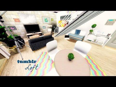 The Sims 3 : Speed Build   Tumblr Loft