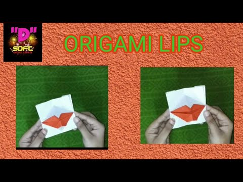 DIY Origami Lips | Paper lips| Origami Mouth | Scrapbook ideas|