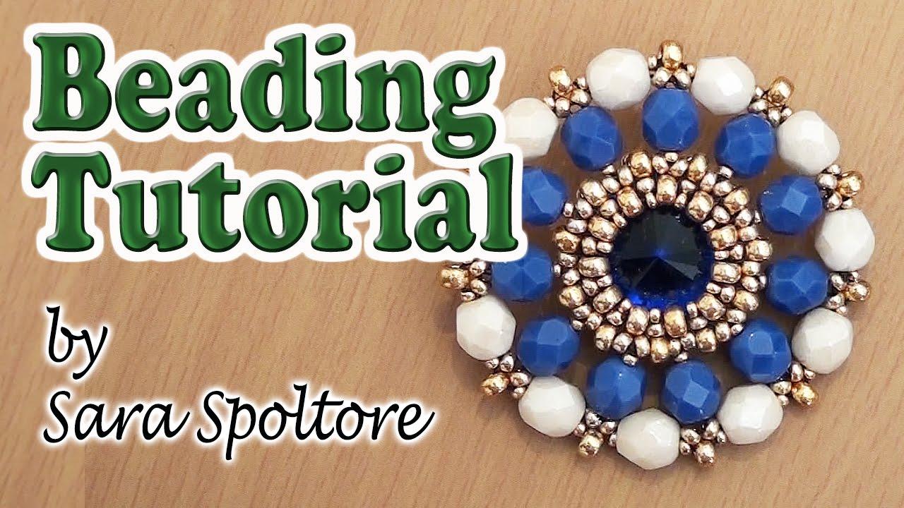 BeadsFriends: beaded bezel crystal - Beading tutorial - Beaded ...