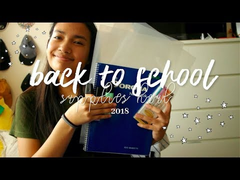 back to school supplies haul 2018 (philippines) 📚✍🏽
