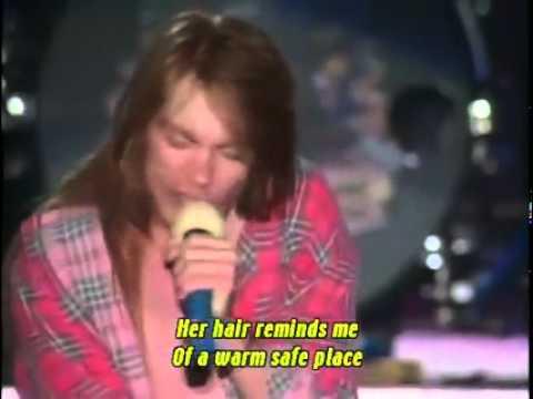 Axl Rose singing