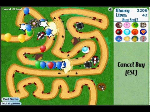 Bloons Tower Defense 3: Hard, Track 1, Lv 1-56