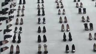 """伊斯坦布尔展出""""高跟鞋墙"""" 呼吁保护妇女权益"""