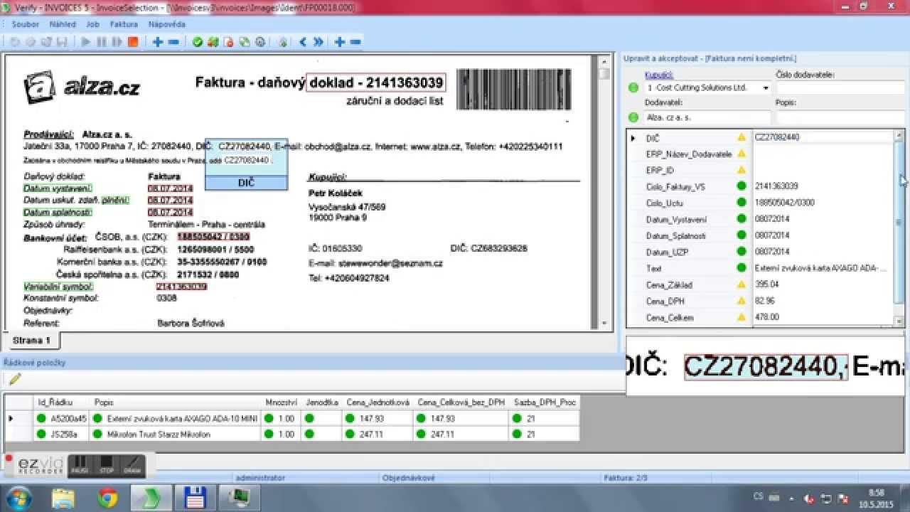 OCR Vytěžování Faktur V ReadSoft INVOICES YouTube - Invoice ocr software