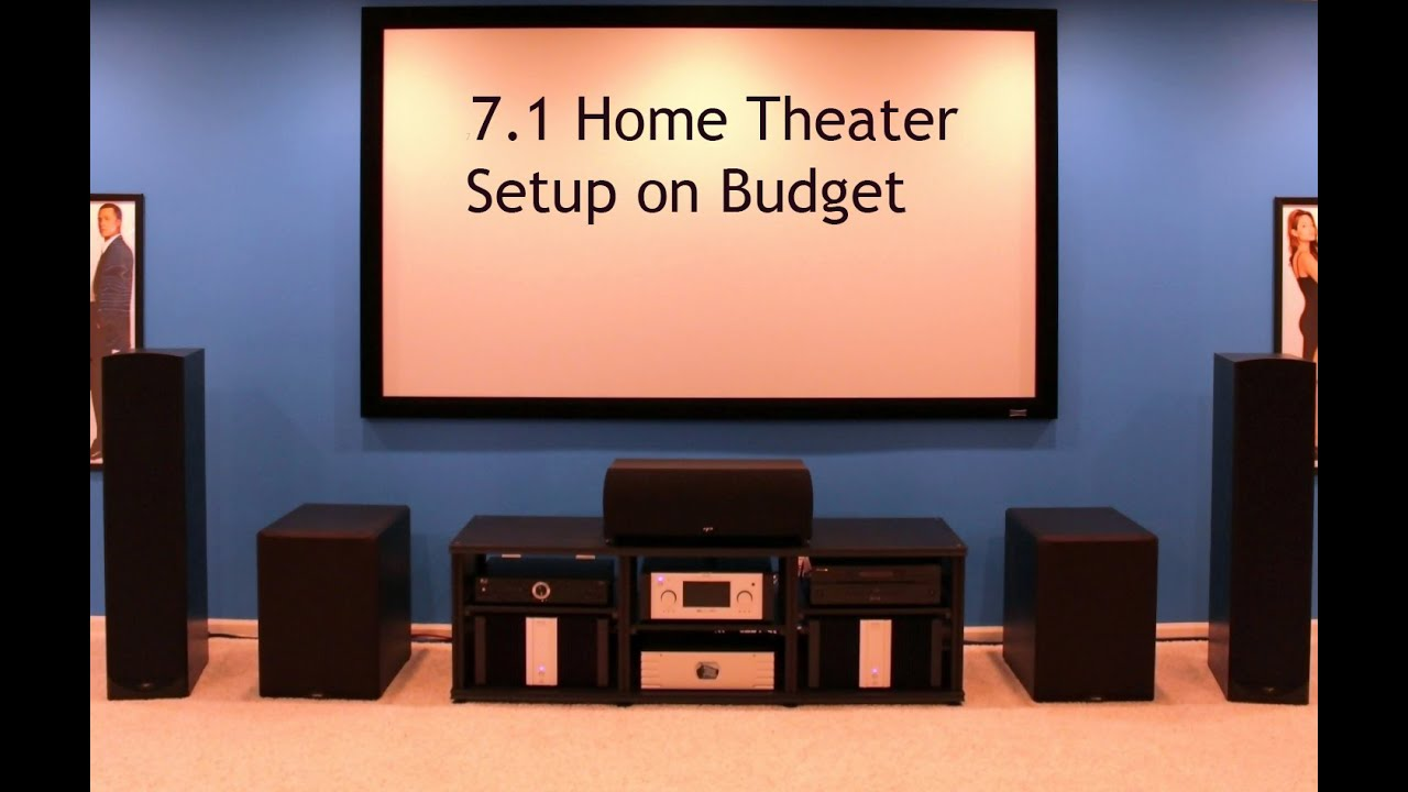 7 1 home theater setup budget youtube. Black Bedroom Furniture Sets. Home Design Ideas