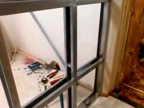 Ремонт кухни: Гипсокартонная перегородка и установка раздвижных дверей
