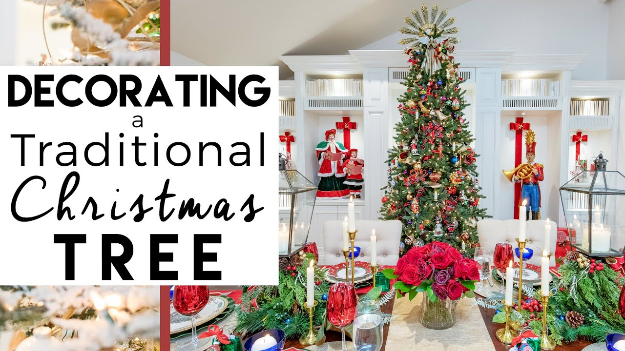 traditional family christmas tree christmas decorations 2018