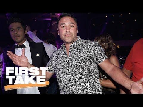 Oscar De La Hoya Criticizes Mayweather-McGregor Fight | First Take | May 26, 2017