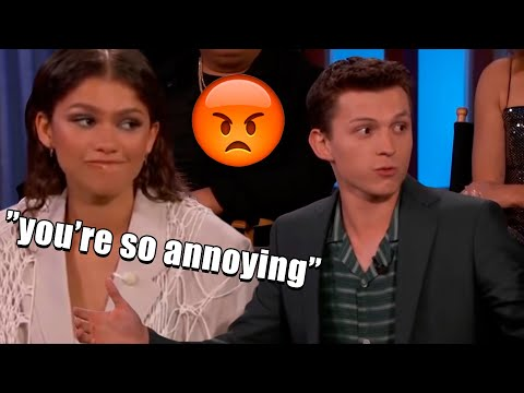 tom holland annoying everyone in the marvel cast for 12 minutes straight