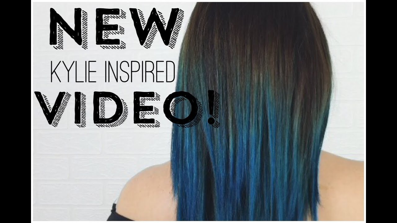 Diy Kylie Jenner Inspired Dark Root To Teal Ombre Bianca Gover Youtube