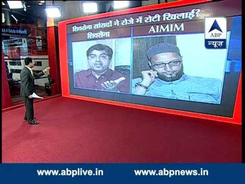 ABP LIVE: Heated debate between Asaduddin Owaisi & Prem Shukla (Shiv Sena)