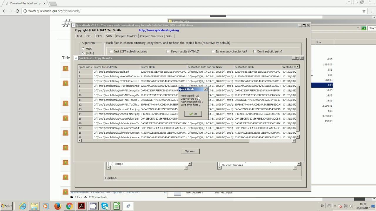 Quickhash GUI - Cross-platform data hashing tool for Windows