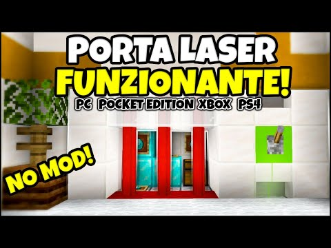 COME CREARE Una PORTA LASER FACILISSIMA Su MINECRAFT ITA NO MODS Pocket Edition, PS4 Xbox Switch, PC