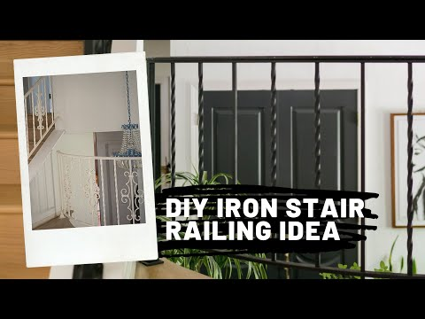 How To Update Wrought Iron Stair Railing Youtube   Wrought Iron Stair Railing   Italian   Front Porch   French   Mediterranean   Design