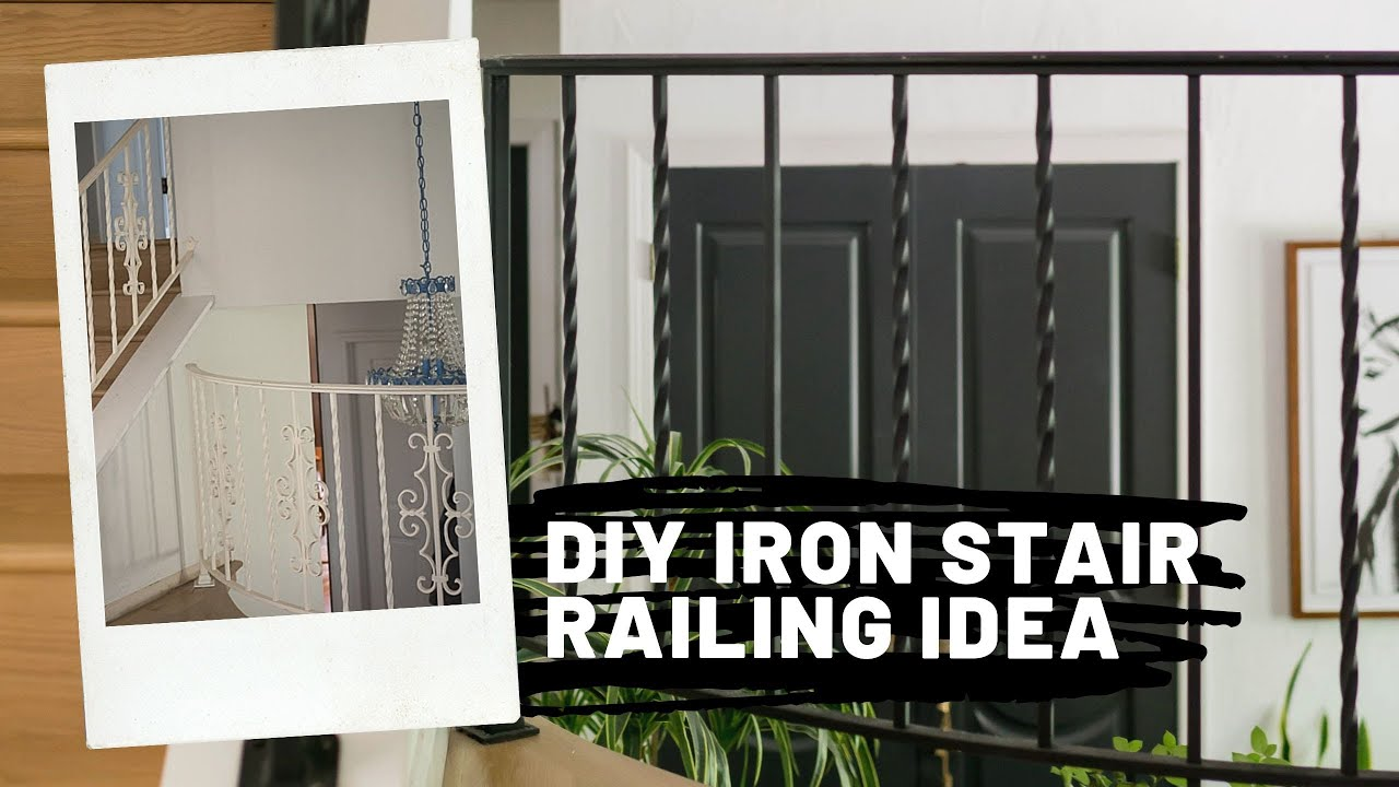 How To Update Wrought Iron Stair Railing Youtube   Cast Iron Staircase Railing   Modern   Grill   Rod Iron   Floor   Interior