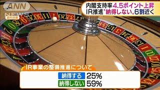 """内閣支持率4.5ポイント↑ IR""""納得しない""""6割近く(20/01/20)"""