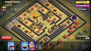 Clash of Clans - Sherbet Towers 3 Star With TH7 32 Hog Riders + 2 dragon