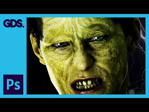 Frankenstein Photoshop Tutorial: Warp Tool, Clone Stamp Tool, Blending Modes & More