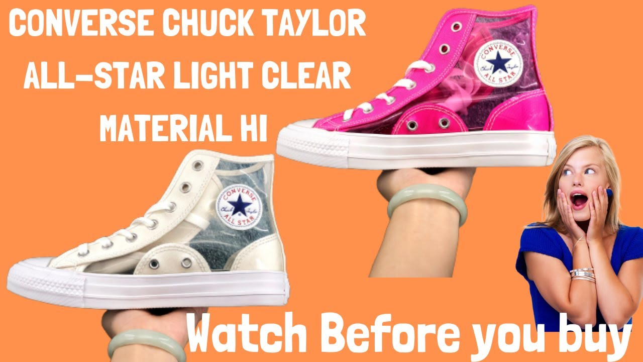 Converse Chuck Taylor All Star Light Clearmaterial Hi White Pink Hi19ss Sneakers Outlet Online Shop Youtube