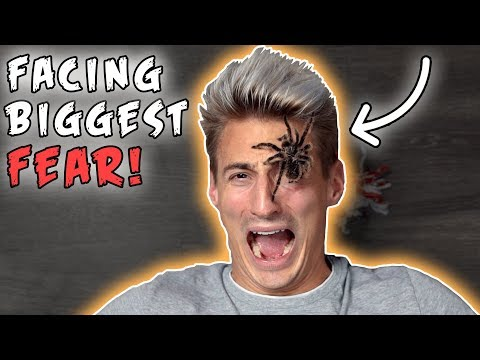 FACING MY BIGGEST FEAR! TARANTULA SPIDER ON MY FACE! (Freakout)