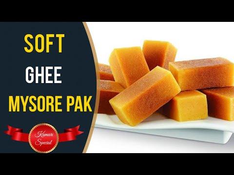 Soft Ghee Mysore Pak recipe with eng sub(நாவில் போட்டதும் கரையும் தித்திக்கும் நெய் மைசூர் பாகு )
