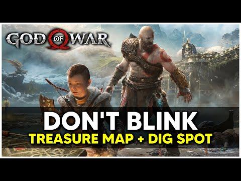 God Of War - Don't Blink Treasure Map + Dig Spot Locations