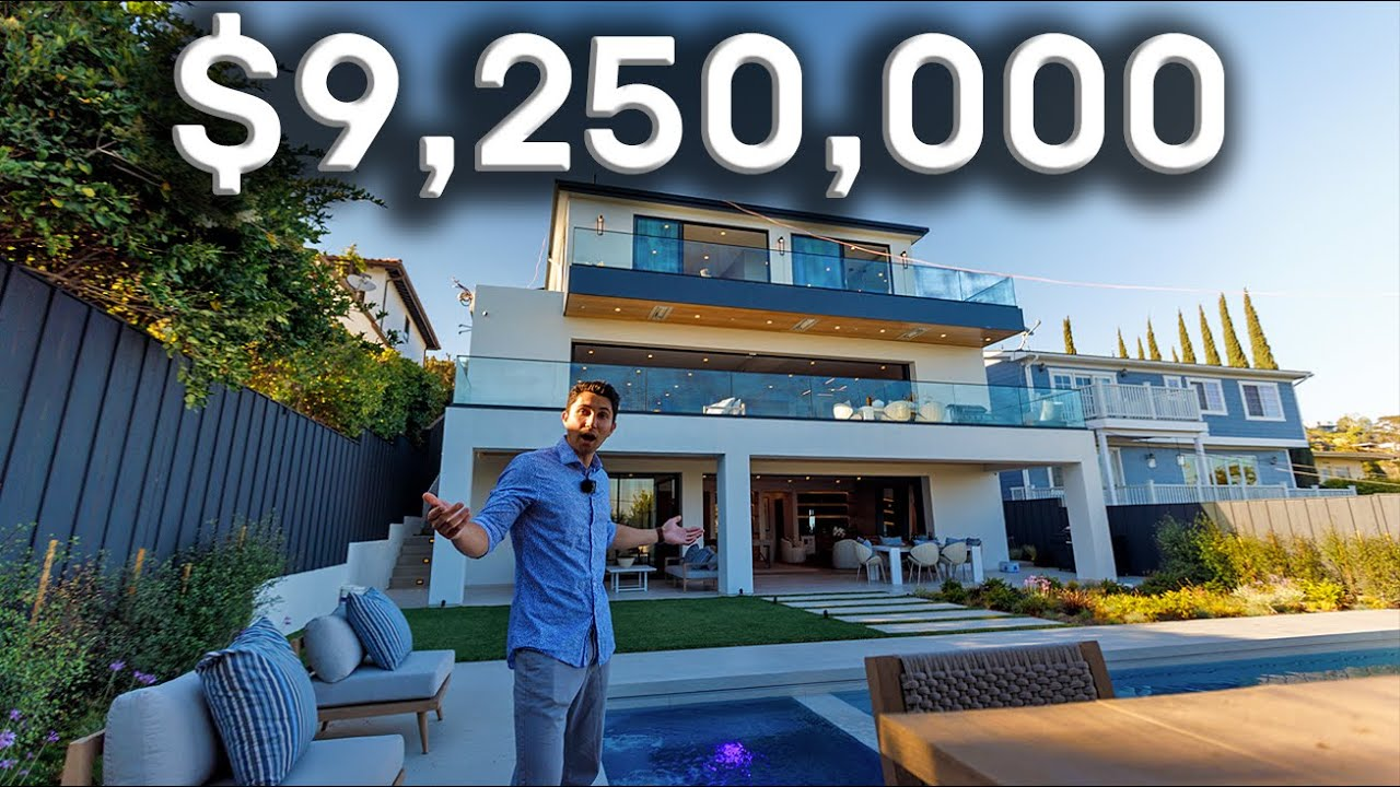 Inside a $9,250,000 Pacific Palisades Modern Mansion with Ocean Views!