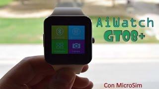 AiWatch GT08+, otro smartwatch con SIM, SD y buenas prestaciones por $35