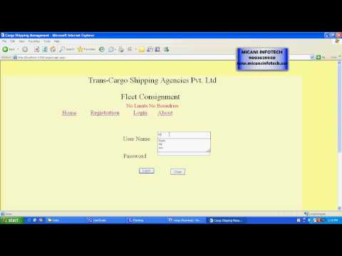 CARGO SHIPPING MANAGEMENT SYSTEM