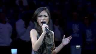 Jessica Sanchez sings National Anthem - 2012 NBA Finals - Heat vs Thunder
