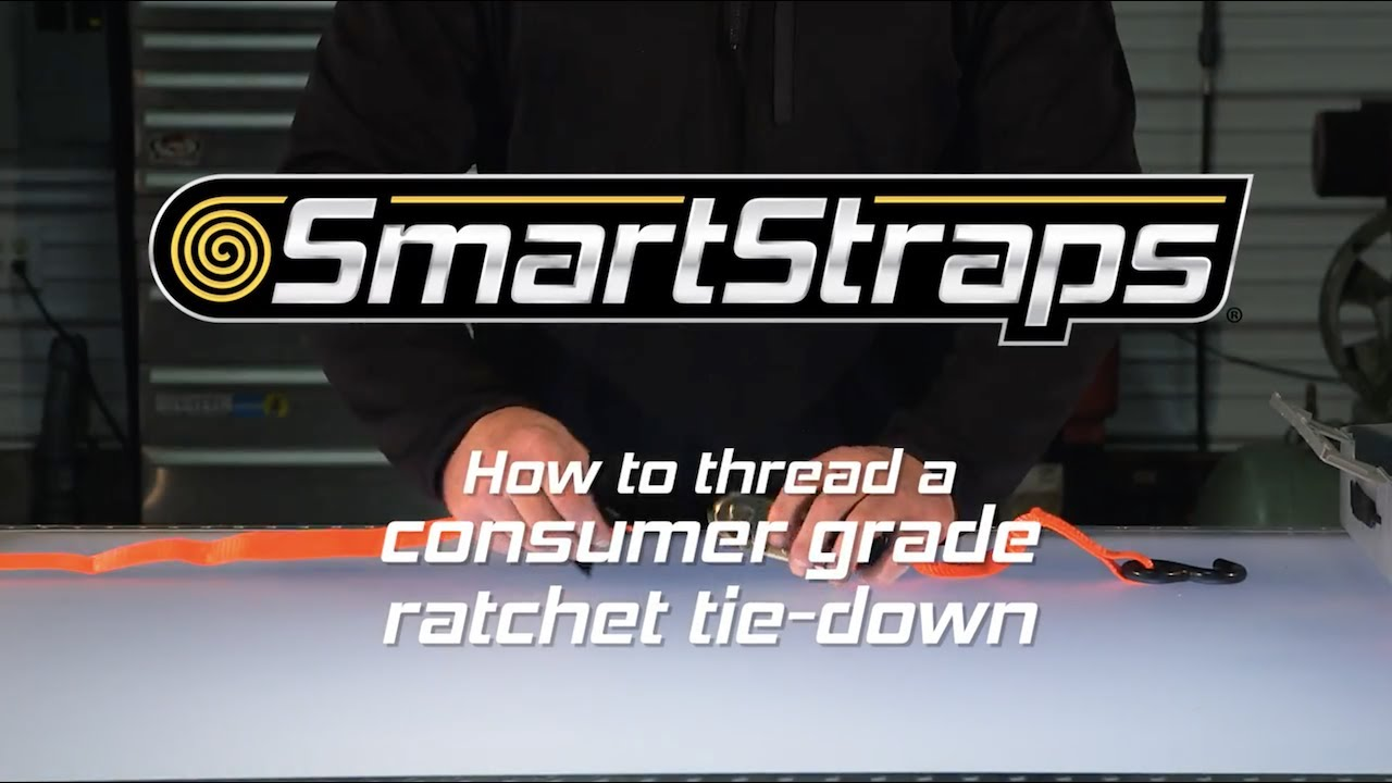 smartstraps how to thread a consumer grade ratchet tie down youtube. Black Bedroom Furniture Sets. Home Design Ideas