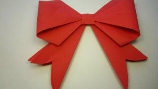 Как сделать бант , бантик из бумаги . Оригами