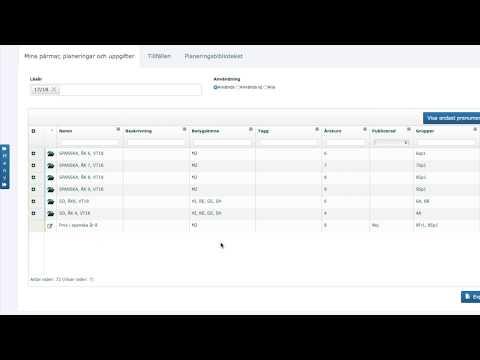 Uppgifter i SchoolSoft | Planeringsverktyget i SchoolSoft 🔴