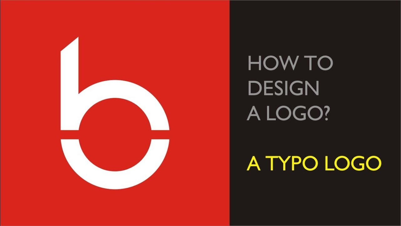 B typo logo - B logo design tutorials - YouTube