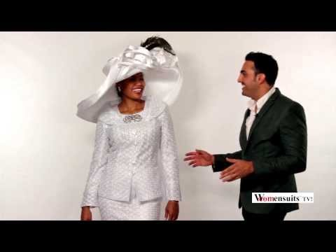 Dave & Megan Review Pretty In Pure White First Lady Church Suit By Donna Vinci 5443