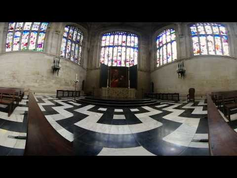 King's College Chapel 360VR - Cambridge, England - 360 Video [Stock Footage] $350