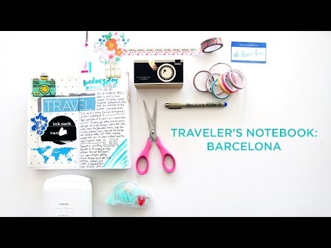 Traveler's Notebook | Barcelona Travel Journal