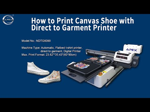 How to Print Canvas Shoes & Leather Shoes with Direct to Garment Printer