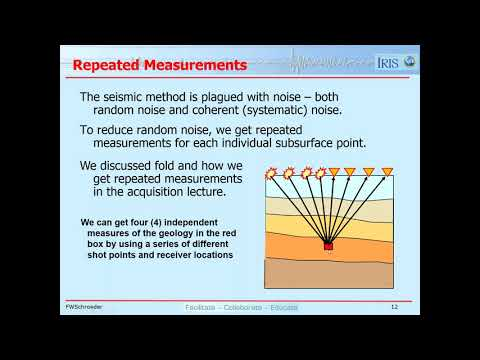 Lesson 17 -  Seismic Processing
